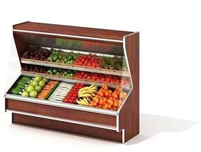 蔬菜水果冷气柜